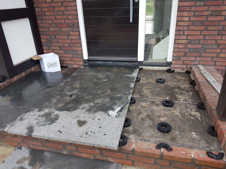 keramische tegels voordeur