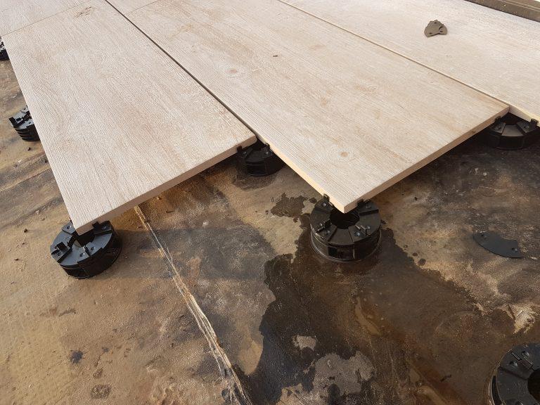 keramische tegels terras detail