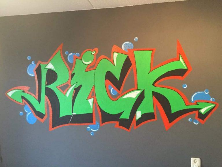 muurschildering naam Rick 2