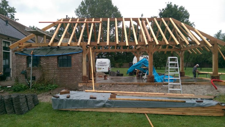 opbouw schuur veranda