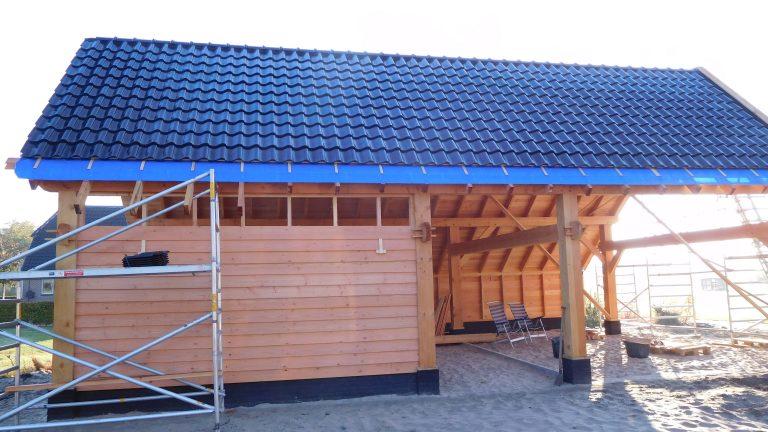 houtskelet schuur garage