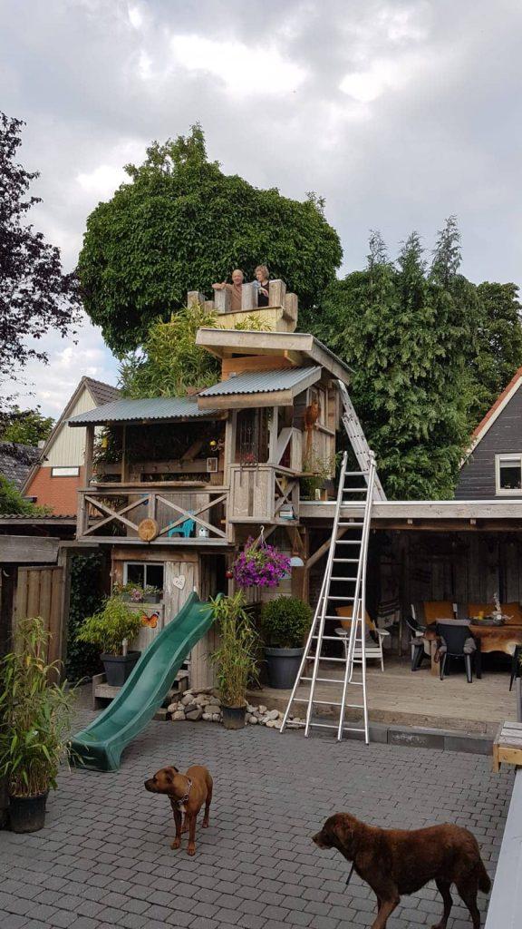 speelhuis boomhut met uitbreiding